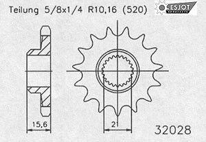 Regina Kettenkit Kit Yamaha XT600E ´90-03/Ténéré ´89-90