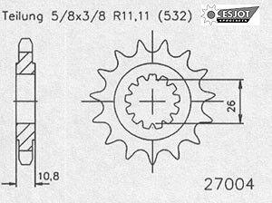 Regina Kettenkit Kit Yamaha XJR 1200 ´95-98/1300 99-