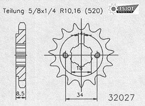 Regina Kettenkit Kit Honda CA 125 Rebel 95-