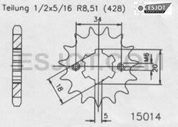 Regina Kettenkit Kit Yamaha YZF-R 125 ´08-